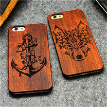 Retro PC+Wood Case Novelty Vintage Case Cover For Apple iPhone 6 6S Plus iPhone 7/7 Plus(China)