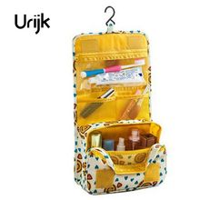 Urijk Customized Large Capacity Travel Package Hanging Wash Bag Portable Cosmetic Bag Women Men Family Ladies(China)
