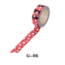 1pc Gold Silver paper tape dot strip star Christmas decorative washi tape Scrapbooking DIY Paper Sticky Party Decor