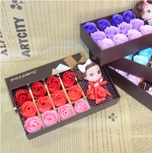 12pcs rose gift 1 Box Twelve soap flower roses confused baby gift box creative valentine's day gift, birthday gift(China)