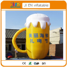 free air shipping to door,20ftH giant festival promotional outdoor advertising inflatable beer mug(China)