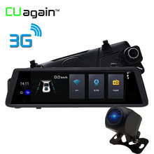 CUagain CUV6 10 inch 3G Mirror DVR With GPS Android Car Camera 1080P HD Auto Recorder Front After Dual Lens Car Recorder Dashcam(China)