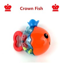 baby toys for children oyuncak colgante toy rattle juguetes educativos 0-12 months bebek shaker rattles mothercare crown fish(China)