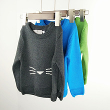2016 Spring&autumn Baby Girl&boy Sweaters Kitty Pattern Cute Pullover Clothes for Kids Clothings