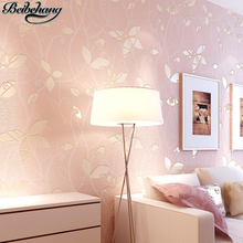 Buy beibehang papel de parede 3D Leaves Pastoral Wallpapers Warm pink bedrooms Bedroom full floor sofa TV background wall paper for $29.51 in AliExpress store