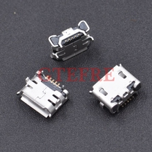 100pcs Micro USB 5pin Jack Female Socket Connector OX Horn Curly Mouth for Tail Charging Mobile Phone Sell At A Loss USA(China)