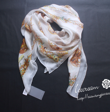 New Brand  100% Silk Scarf Printing Skull Scarves For Women Skulls Floral Print Designer Silk Scarf High Quality Shawl S304