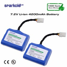Sparkole 4200mAh Lithium battery for Neato XV-11 XV-12 XV-14 XV-15 XV-25 XV Signature Pro Robotic Vacuum Cleaner 2Pack(China)