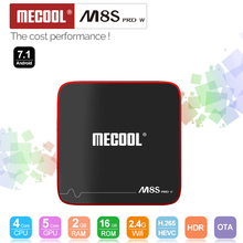 MECOOL M8S PRO W Smart Android 7.1 TV Box Amlogic S905W Quad Core H.265 HDR10 Mini PC 2GB / 16GB DLNA WiFi LAN HD Media Player(China)