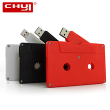 CHYI Cassette Shape USB Flash Drive High-speed U Disk 4GB 8GB 16GB 32GB 64GB Pen Driver Memory Stick Tape Model Design Pendrive(China)