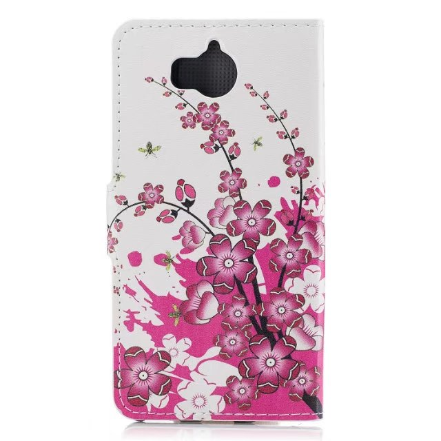 YIESOM For Huawei Y5 2017 Shell Case Luxury Flip Wallet PU Leather Stand Soft Phone Cover for Huawei Y6 2017 Fundas Capa Coque