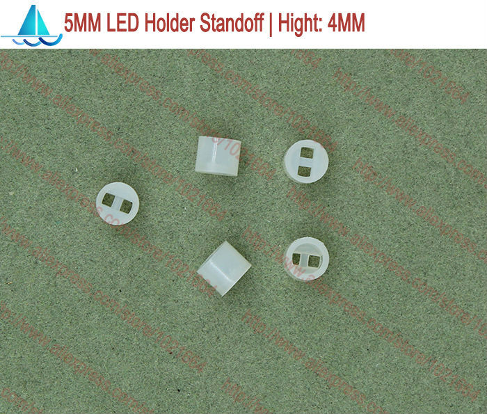200pcs/lot  5MM LED Lamp Holder Hight:4MM Light Emitting Diode Spacer Support Standoffs(China)