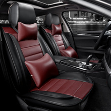 Buy KKYSYELVA PU Leather Auto Universal Car Seat Covers Set Automotive Seat Covers toyota Car Styling Interior Accessories for $169.19 in AliExpress store