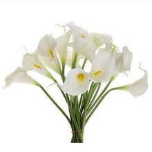 10 Pcs/lot  Artificial Flowers 5 Colors Calla Lily Bridal Wedding Decoration Bouquet Head Latex Real Touch Artificial Flower