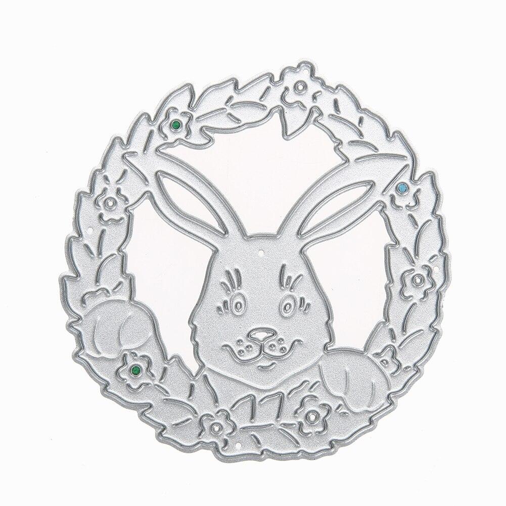 Funny Rabbit Metal Cutting Dies for Scrapbooking Embossing DIY Album Cards Cute Decoration Manual Toy Metal Dies Cutter