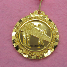 High quality sports meet gold silver bronze medal/ Custom olympics volleyball match medal(China)