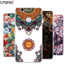 UTOPER brand fundas For Huawei Nova cover transparent Silicone back Cover Mandala cat lion case For Huawei nova DIY Phone Case
