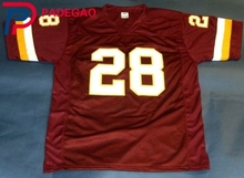 Embroidered Logo Darrell Green 28 red throwback high school FOOTBALL JERSEY for fans 1224-1(China)