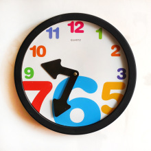 Hanging Wall Decor Clock Cartoon Digital Wall Clock Manufacturers Selling Creative Home Decor Cricle Clock