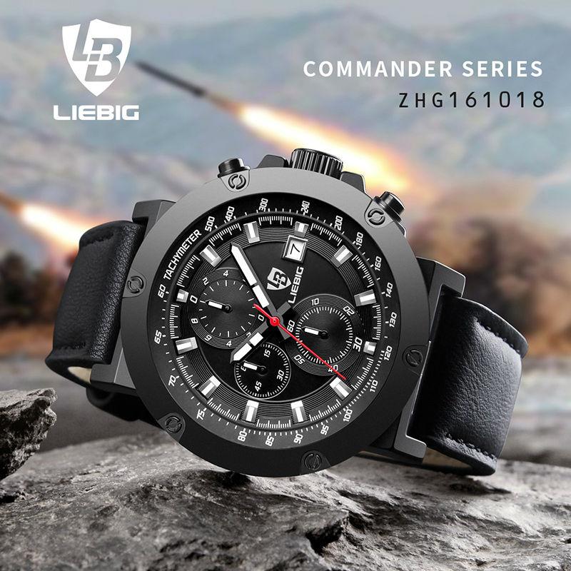 Men Quartz Watches Military Fashion Men Business Casual Quartz Wristwatches 50M Waterproof Watch Relogio Masculino LIEBIG 1018<br>
