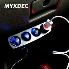 Auto Car Cigarette Lighter Socket Charger 12V / 24V 4 Way Splitter Charger Plug Power Adapter iphone/samsung
