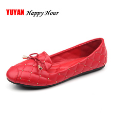 New Round toe Flats for Women Boat Shoes Elegant Bowknot Fashion Women's Flats Office Ladies Brand Shoes Black Red Grey ZH2189(China)