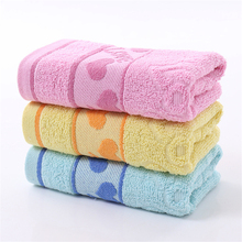 High Quality Soft Pink Cotton Jacquard Face Towel Love Heart Pattern Practical Absorbent Home Textile Bathroom Towel 34x75cm