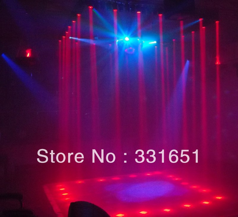4pcs/Lot LED RGBW 4IN1 LED PinSpot Light With Zoom  Function and DMX 6 Channels<br>