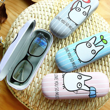 Cartoon Totoro design Sunglasses Hard leather glasses Case cute Protector Sunglasses Box eyewear cases optical accessories(China)