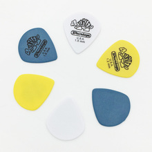 Dunlop Tortex Jazz Guitar Pick Mediator Quick Play for Acoustic Electric Guitar Bass Thickness 1.0 1.2 1.5 mm Size 25 x 22 mm