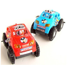 Free Shipping Blue Fun Somersault Toy Truck Car Jeep Suv Moto Vehicle Micky Mouse Baby Child Electric Sand Type Great Xmas Gift