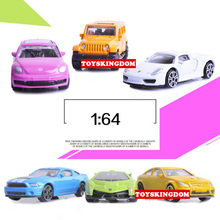 Hot 1:64 scale wheel mini diecast super sport cars Beetle Jeep Wranglers GTS Fords Mustangs Benz ranges rover pull back toys(China)