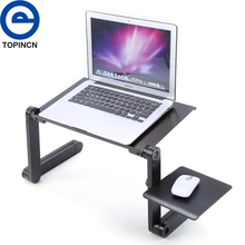 Portable Folding Laptop Table Desk Adjustable Laptop Stand Desk Sofa Bed Tray Computer Notebook Desk With Mouse Pad