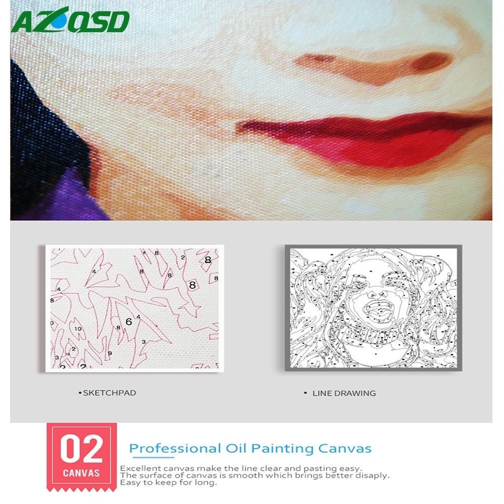 Personality Photo Customized Oil Paint Paintings By Numbers Picture Drawing New