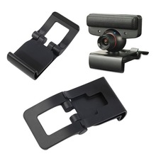 New Black TV Clip Bracket Adjustable Mount Holder Stand For Sony Playstation 3 for PS3 Move Controller Eye Camera Wholesale(China)
