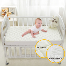 Terry Quilted Bamboo Fiber Anti-mite Mattress Protection Cover Waterproof Cover For Children 28*52*6inch/71*132*15cm