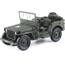 Free Shipping Alloy 1:18 Tactical Military Model Jeeps Old World War II Willis Military Vehicles For Childen Toys Gifts(China)