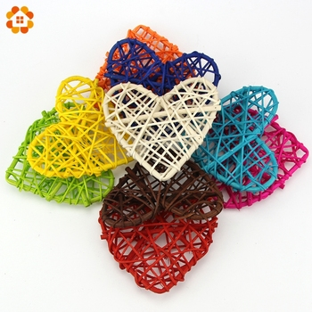 20PCS New Arrival Rattan Ball10CM Heart Sepak Takraw For Christmas  Birthday Party & Home Wedding Party Decoration 10 Colors