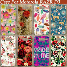 Pattern Hard Cover Case Pattern case For Moto Razr d3 diy painted Back Cases 3D Fashion beautiful flowers Design(China)