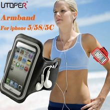 Adjustable SPORT GYM Armband Bag Case For Apple iPhone 5 5S 5C SE Waterproof Jogging Arm Band Mobile Phone Belt Cover(China)