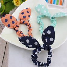 Buy 20pcs Hair Band Ties Hair Gum Polka Dot Rope Hair Accessories Bow Tie Girls Rabbit Ears Rubber Band Head Bands Colorful Headwear for $2.06 in AliExpress store