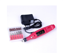 20000rpm Professional Nail Art Tools Electric Manicure Machine EU/US Plug 220V 50Hz Red Color Nail Art Pen Pedicure File