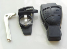 New key C ML E CLK B CLS S 3 Button Smart Remote Key Fob Case for Mercedes benz car accessories 1pc with battery clip no sticker(China)