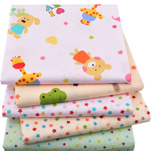 Clearance Sale, 5pcs/lot,Twill Cotton Fabric Patchwork Tissue Cloth Of DIY Quilting Sewing Baby&Children Sheets Dress Material(China)