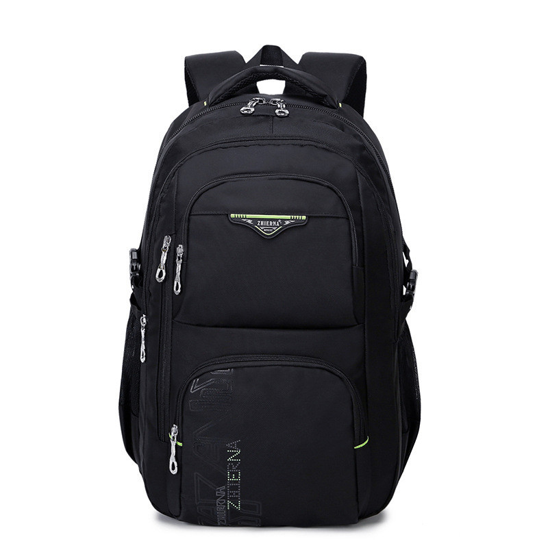 Men Laptop Backpack 15.6 Inch Rucksack School Bags Travel Waterproof Backpack Men Notebook Computer Bag Black<br>