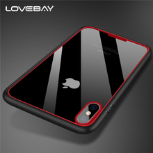 Lovebay For Apple iPhone X Clear Armor Phone Case Fashion Hard PC And TPU Hybird Shockproof Phone Case For iPhone X Cover Bags(China)
