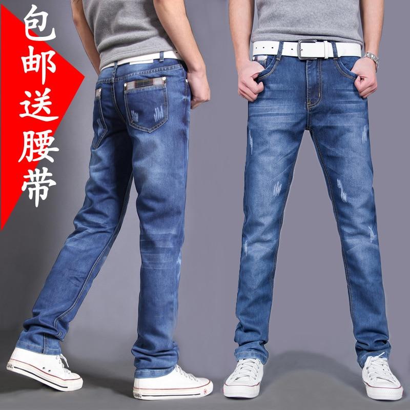 2016 mens fashion leisure jeans Young cat must be blueÎäåæäà è àêñåññóàðû<br><br><br>Aliexpress