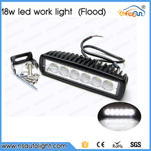 2pcs black housing flood offroad 18W LED off road work lamp 18w LED worklight lamp 12V/24V 18W LED work light bar bulbs