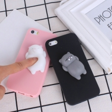 KALCAS Squishy Case 3D Cute Bear Seal For iphone 5 5s 5se 6 6s 4.7'' 7 7 plus Case Cover Silicone Stress Reliever Bags Squeeze