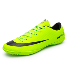 Professional Adults Men Soccer Cleats Shoes Low Top TF Soccer Football Trainers Outdoor Athletic Sports Sneakers EU38--44